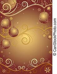quadro, natal, red-golden