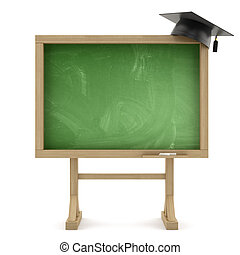 quadro-negro, escola, boné, graduação