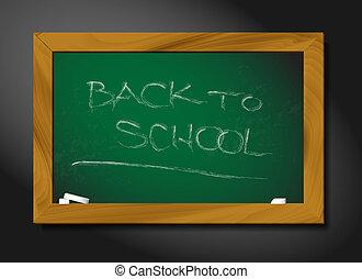 quadro-negro, escola, vetorial, ilustração