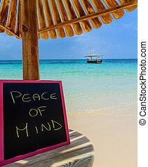 quadro-negro, paz, mente