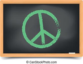 quadro-negro, símbolo, paz