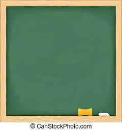 quadro-negro, verde, em branco