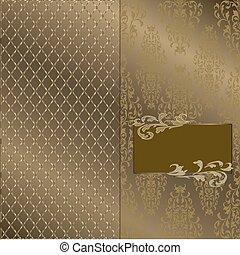 quadro, ouro, fundo, 3