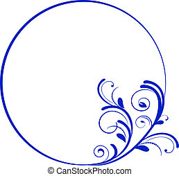quadro, oval, decorativo