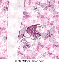 quadro, páscoa, cor-de-rosa