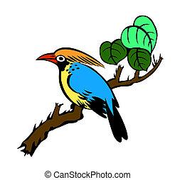 quadro, pássaro