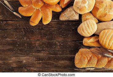 quadro, pão