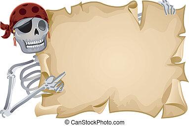 quadro, pirata, scroll