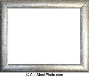 quadro, planície, quadro, prata