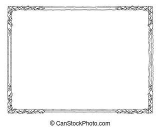 quadro, pretas, isolado, laurel