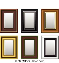 quadro, quadro, foto, espelho