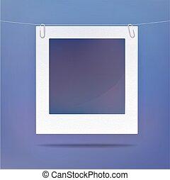 quadro, quadro fotografia, isolado, em branco, ou