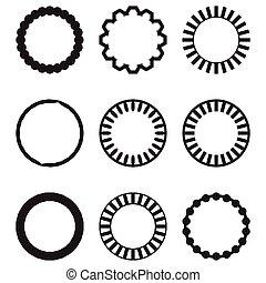 quadro, redondo, círculo, geomã©´ricas, jogo