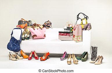 quadro, shopping, apresentando, montão