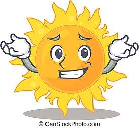 quadro, sorrindo, sol, desenho, verão, caricatura, conceito