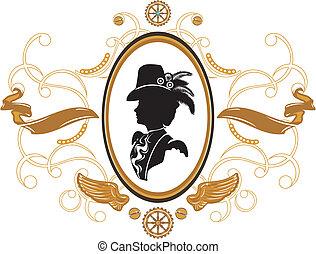 quadro, steampunk, estilo