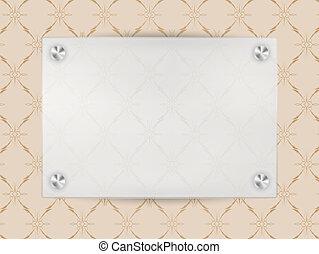 quadro, transparente, em branco