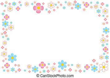quadro, vetorial, flores