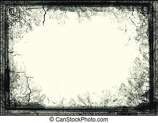 quadro, vetorial, grunge
