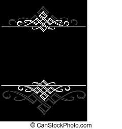 quadro, vetorial, ornamental