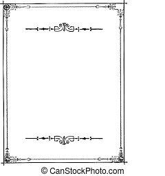 quadro, vetorial, ornamentos