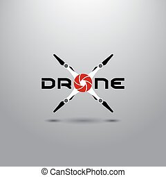 Quadrocopter business icon. Simple logo for drone club or...