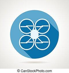 Quadrocopter flat vector icon