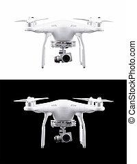 quadrocopter, helicóptero, zángano