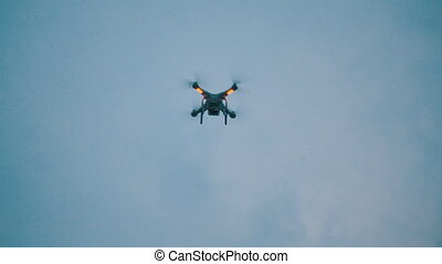 quadrocopter in the sky