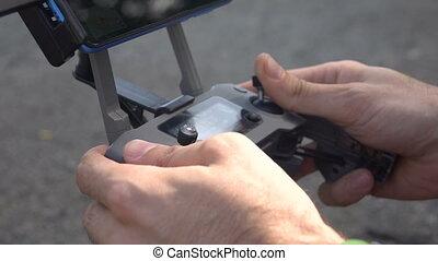 Quadrocopter remote control