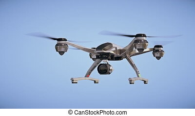 Quadrocopter with camera - Footage is loopable from 100 till...