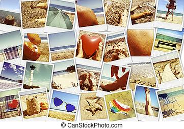 quadros, de, diferente, verão, cenas, tiro, sozinha