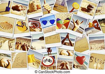 quadros, de, diferente, verão, sceneries, tiro, sozinha