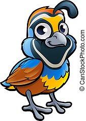 Quail Bird Cartoon Character - A quail bird cute cartoon...