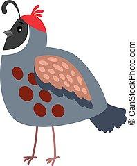 Quail cartoon bird icon