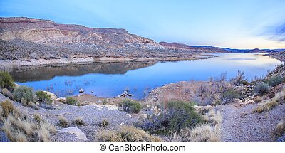 Quail Creek State Park in Utah, USA has two dams that form the reservoir that offers camping, boating, swimming, and fishing.