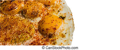 Quail egg omelette isolated with clipping path