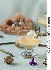 Quail Eggs In Mustard Mayonnaise