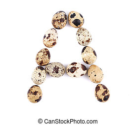 quail eggs in the form of letter A