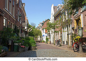 Quaint Alley - A quaint back alley in the center of Haarlem,...