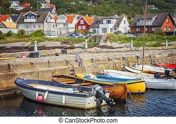 Quaint fishing village - Image of a small quaint fishing...