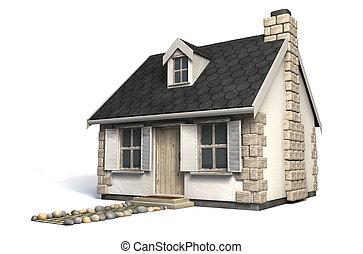 Quaint Little Cottage - A quaint little stone cottage with a...