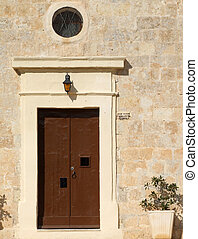 Quaint Medieval Chapel Door