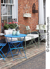 Quaint Seating on the street - Quaint table and chairs on...