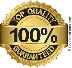 qualidade, 100 cento, melhor, guaranteed