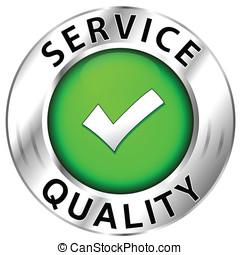 qualidade, de, serviço, ícone, branco, fundo