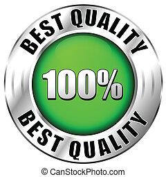 qualidade, melhor, ícone