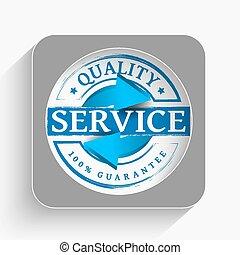 qualidade, serviço, ícone
