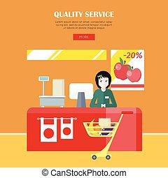 qualidade, serviço, conceito