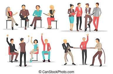 qualificazione, addestramento, aumento, persone affari